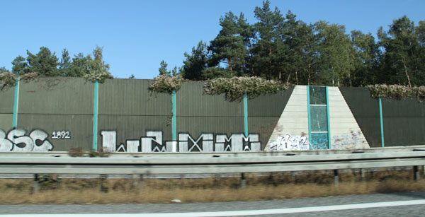 graffiti at the side of motorways